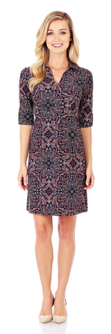 Michelle Dress in Timeless Paisley Black - Jude Connally - 1