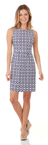 Mary Pat Dress in Moroccan Tile Navy