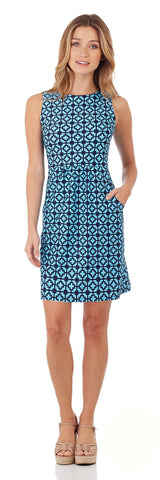 Mary Pat Dress in Moroccan Tile Sapphire
