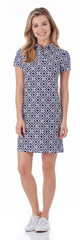 Emily Polo Dress in Grand Links Navy - FINAL SALE
