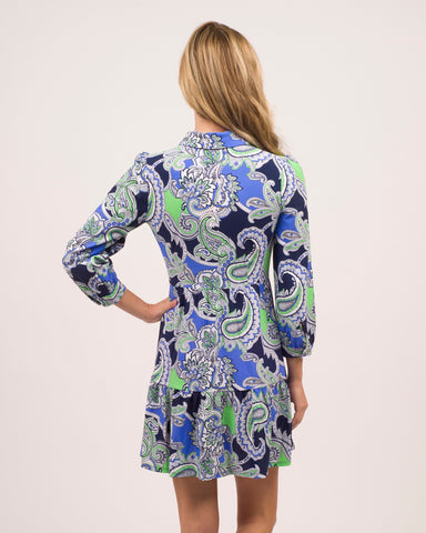 Henley Dress <br>Jude Cloth - Paisley Maxi