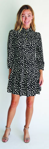 Henley Dress <br>Jude Cloth - Painted Spots