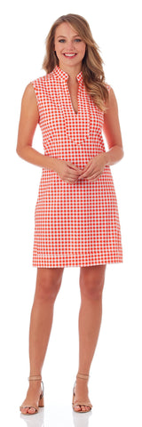 Kristen Tunic Dress in Gingham Apricot - FINAL SALE
