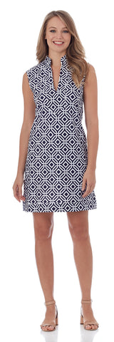 Kristen Tunic Dress in Grand Links Navy