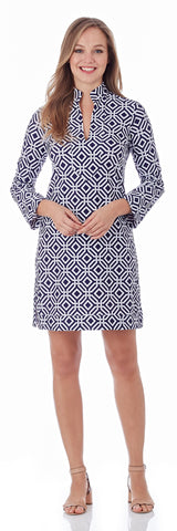 Kate Tunic Dress in Grand Links Navy - FINAL SALE