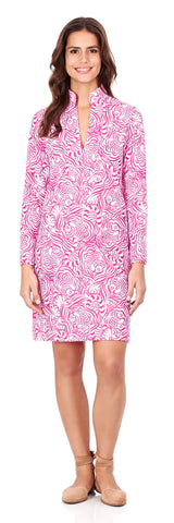 Kate Tunic Dress in Hidden Tigers Pink