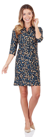 Sloane Shirt Dress in Cheetah Spot Black