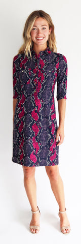 Sloane Dress <br>Jude Cloth - Snakeskin LONG
