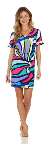 Nina Dress <br>Jude Cloth - Oh Abstract