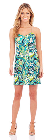 Bailey Slip Dress in Fanfare Turquoise - Jude Connally - 1