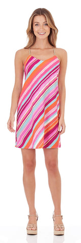 Bailey Slip Dress in Mod Stripe Multi