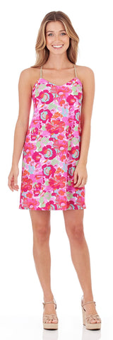 Bailey Slip Dress in Wildflower Mini Fuchsia