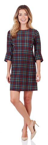 Margot Shift Dress in Classic Plaid Red - FINAL SALE