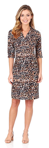 Michelle Dress in Cheetah Black - LONG