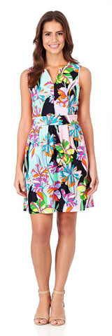 Julie Fit & Flare Dress in Fresh Floral Black