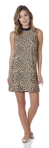 Chelsea Shift Dress in Cheetah Camel