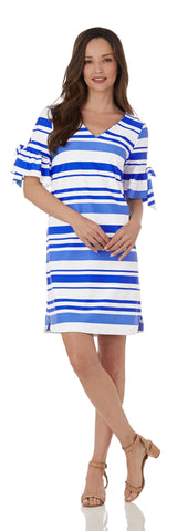 Cory Dress <br>Jude Cloth - Regatta Stripe