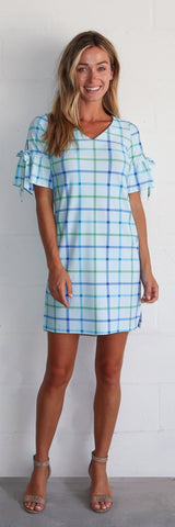 Cory Dress <br>Jude Cloth - Seaside Plaid