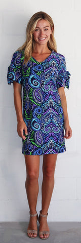 Cory Dress <br>Jude Cloth - Wild Paisley