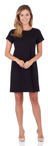 Ella Ponte T-Shirt Dress in Black