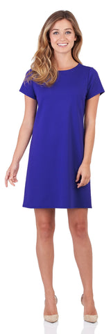 Ella Ponte T-Shirt Dress in Royal