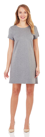 Ella Ponte T-Shirt Dress in Speckled Gray