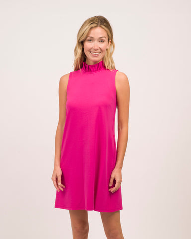Avery Dress <br>Ponte Knit - Magenta