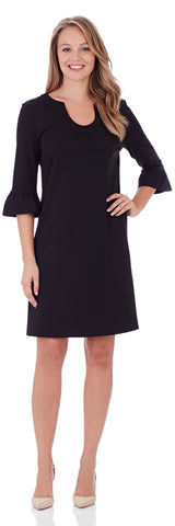 Nancy Ponte Dress in Black