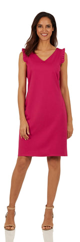 Lulu Dress <br>Ponte Knit - Dark Fuchsia LONG