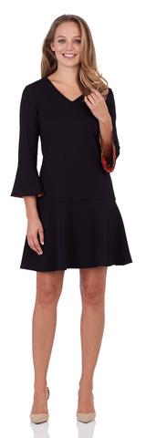 Gabriella Ponte Dress in Black