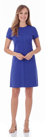 Marlie Ponte Dress in Royal