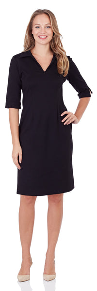 Michelle Ponte Dress in Black - LONG