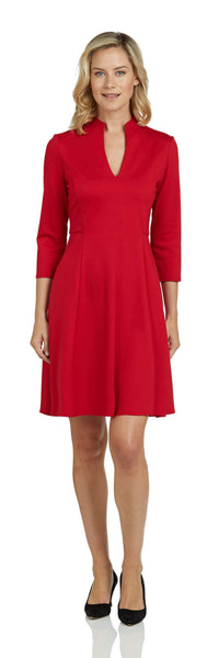 Kennedy Dress <br>Ponte Knit - Red
