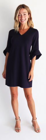 Lyla Dress <br>Ponte Knit - Dark Navy