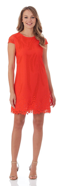The Hamptons Cap Sleeve Sheath Dress in Poppy