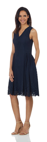 Leah Dress <br>Spring Lace - Navy
