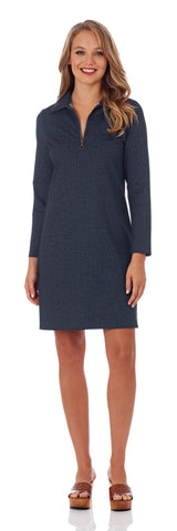 Deidre Stretch Denim Dress in Navy