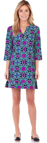 Megan Dress in Tapestry Medallion Emerald - FINAL SALE - Jude Connally - 1