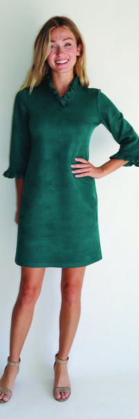 Catalina Dress <br>Faux Suede - Jade
