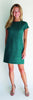 Kayla Dress <br>Faux Suede - Jade
