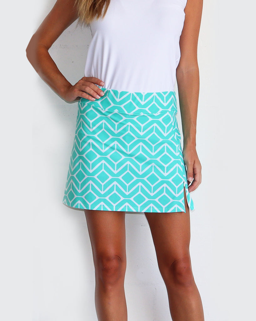 Morgan Skort <br>Jude Cloth - Sail Geo