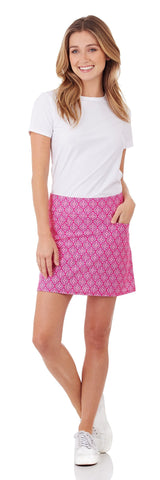 Tanya Skort in Mosaic Tiles Mini Pink