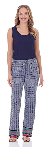 Lola Pant in Mixed Summer Geo Navy