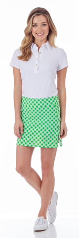 Morgan Skort in Linked Lattice Grass - FINAL SALE