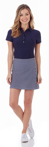 Morgan Skort in Nantucket Stripe Navy