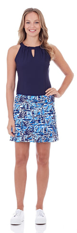 Morgan Skort in Ocean Sails Navy