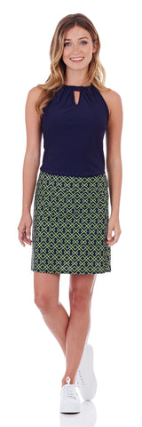 Carrie Skort in Trellis Trio Navy