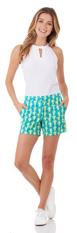 Ariel Short in Pineapple Party Turq