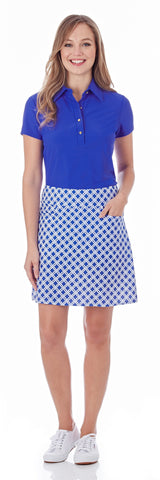 Sonia Skort in Linked Lattice Sapphire - FINAL SALE