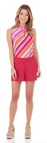 Phoebe Ponte Short in Dark Fuchsia